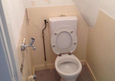Toilet renovatie - begin situatie