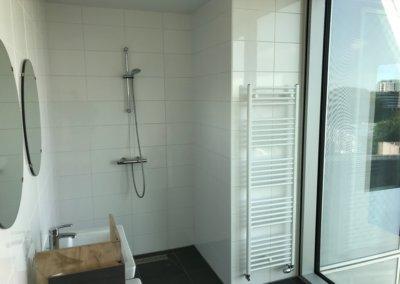 slaapkamer + badkamer renovatie - douche begin