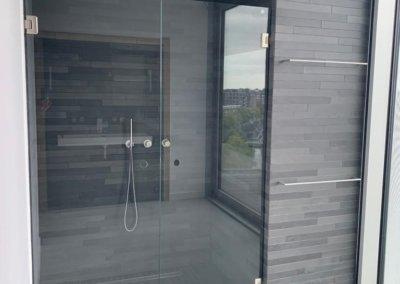 slaapkamer + badkamer renovatie - douchekabine af