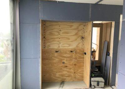 slaapkamer + badkamer renovatie voortgang badkamer