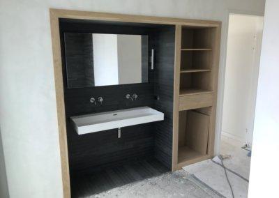 slaapkamer + badkamer renovatie - wastafel klaar